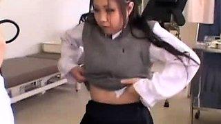 Japanese teen in school uniform