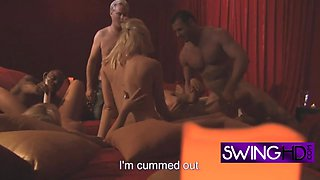 Swinger stallions want to creampie those dirty sluts