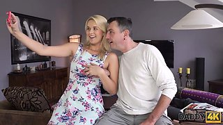 Daddy4k. chesty teen cheats on sleeeping bf with his