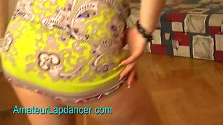Pregnant girl does lapdance and strip