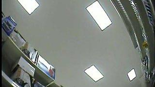 Amateur hidden camera upskirt of women shopping at the store