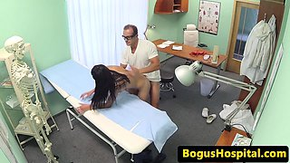 Real euro patient getting finger fucked