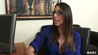 Slutty secretary Dava Foxx gets fucked right on the boss's table
