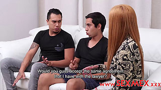 Latina MILF Pecosa Double Penetrated by Two Young Studs