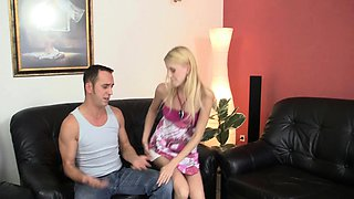 Czech blonde girl takes rough throat and anal driiling