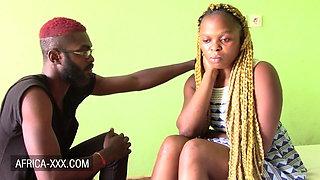 Blonde ebony amateur has makeup sex with boyfriend
