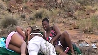 Intense sex out in the African plains