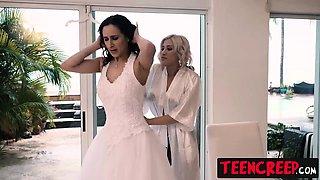 Hot brunette bride Ashley Adams gets her pussy filled up