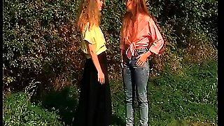 Horny Bavarian retro girls enjoying a good fuck