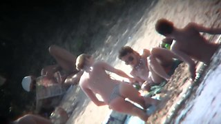 Amazing young nudist hidden beach video