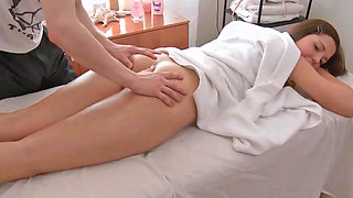Amanda getting nicely fingered and toyed by some naughty masseur