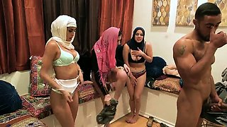 Outdoor group xxx Hot arab women try foursome