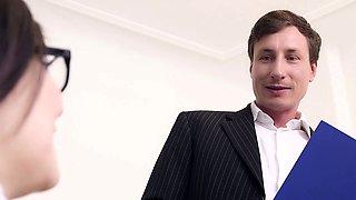 BUMS BUERO - Hot office fuck with busty German secretary