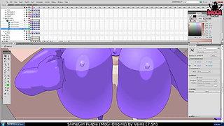 MoGi Origins - SlimeGirl Purple adult scene (making of)