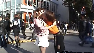Cute and horny asian babes having sex