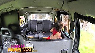 Female Fake Taxi Tattooed babes squirt and masturbate