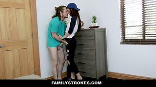 Familystrokes - stepsis rides her horny stepbros cock