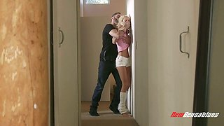 Tattooed nextdoor chick Emma Hix gets her muff rammed by kinky rude neighbor