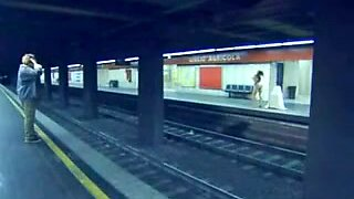 sexy vintage brunette voyeur action subway movie 80s
