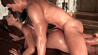 3d Doggystyle animated and CUM on Ass