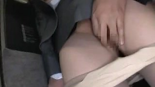 Shocked Officelady groped in Elevator