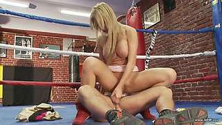 Francessa face fucked then pounded hardcore in the gym