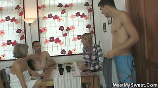 I just found her riding dad\'s cock