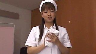 Crazy Japanese chick Aoi Buruma in Hottest Nurse, POV JAV video