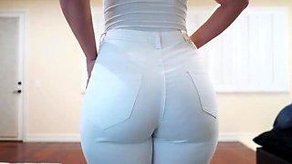 Sexy tall latina modeling jeans bikinis