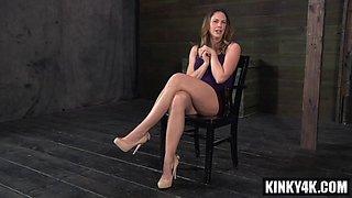 Hot pornstar bdsm bondage with cumshot