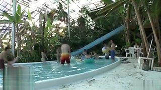 Multiple Orgasms on the public pool.avop356