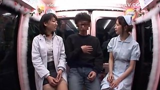 Crazy Japanese girl Tsumugi Serizawa, Nana Usami, Azumi Mizushima in Best Threesome, Public JAV movie