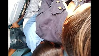 Brazilian legal age teenager on bus