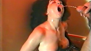 Filthy brunette mature woman has fetish for pissing