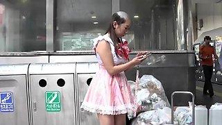 Force headshave Japanese girl