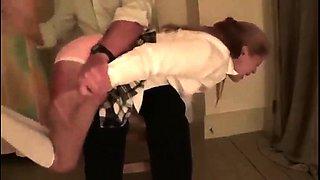 Lovely amateur teen gets a hard spanking for bad behavior