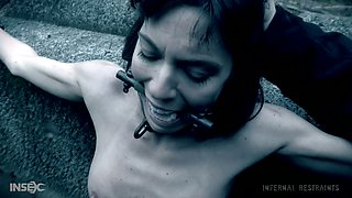Kinky jerks is going to punish tied up whore Lexi Foxy