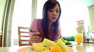 Horny Japanese model Marin Omi in Crazy skinny JAV scene