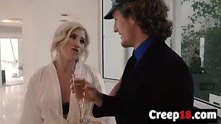 horny bride ashley adams takes long schlong