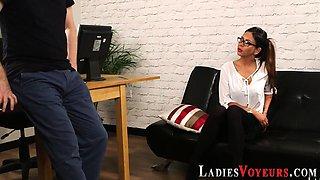 Cfnm mistress in glasses