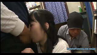 Jav Idol Yamakawa Yuna Ambushed In Book Store Jeans Cut At The Crutch And Made To Fuck