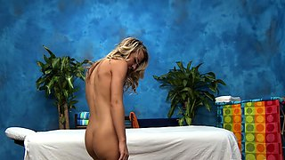 Nude blonde sweetheart Abbey gets nailed by guy