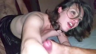 Amazing milf wife with sexy face shared on threesome