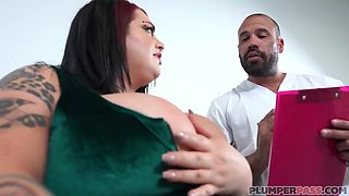 Tattooed Brunette With Big Boobs Seduced Her Doctor And Had Amazing Sex With Him, The Other Day