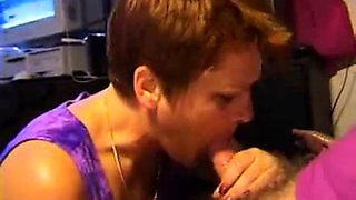 amateur cocksucker mom facial and swallow