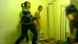 Stripping fun with my drunk curvy girlfriends on video