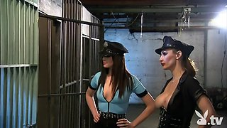 big boobies four women in a prison cell