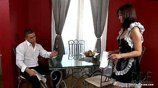 French Maid Does Her BJ Duty