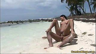 Sexy Nataly hot Caribbean beach sex action