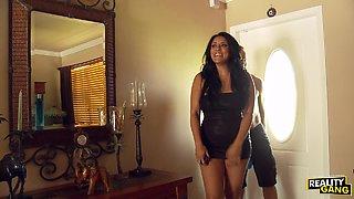 Very hot busty Kiara Mia gets fucked on the bed